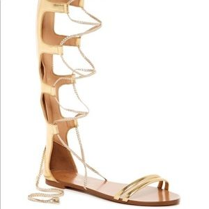 Aldo gold gladiator shoes